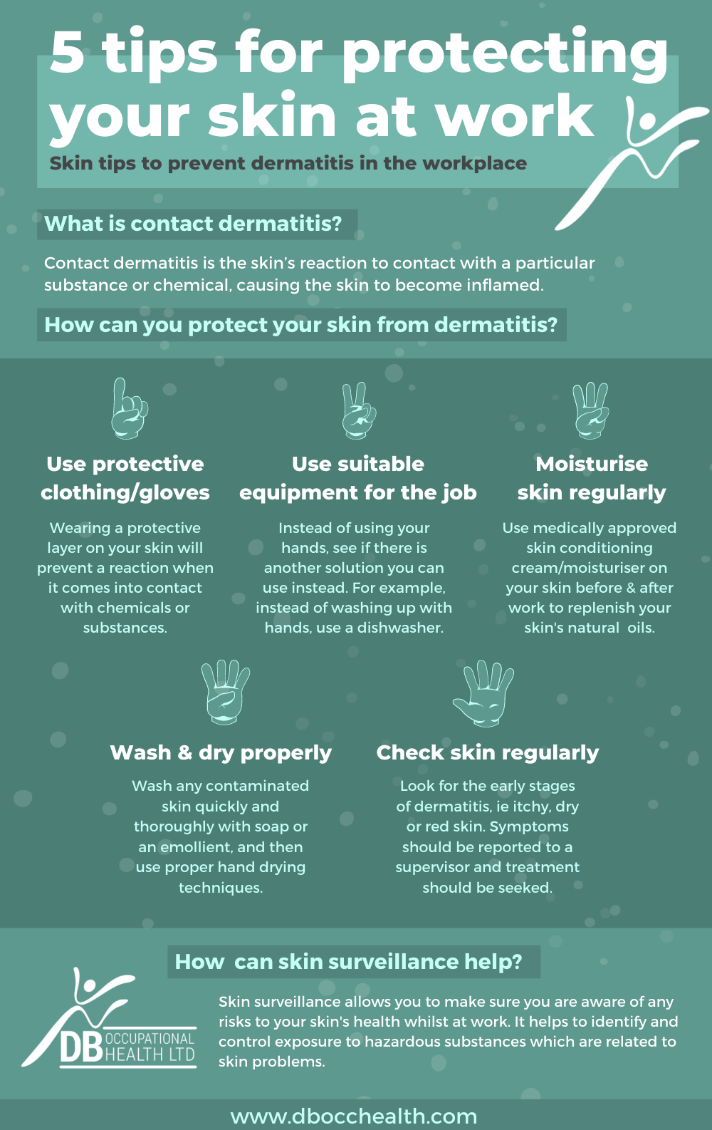 dermatitis tips for workplace infographic